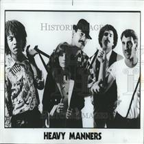 1982 Press Photo Heavy Manners Band - RRV28107