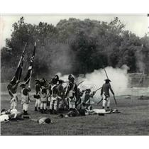 1978 Press Photo Battle re-enactment was held at Greenfield Village, Michigan