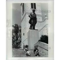 1977 Press Photo Winston Churchill memorial-Westminister College-Missouri