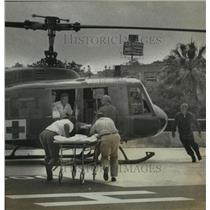 Press Photo Intital flight of a medical helicopter - sba14747