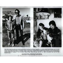 1985 Press Photo Jim Carrier Marth Benally Navajo AR - RRX22853