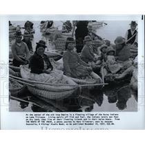 1977 Press Photo Ourou Indians Lake Titicaca - RRW63617