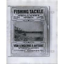 1908 Press Photo Fishing Sporting Goods Catalog - RRY58759