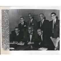 1963 Press Photo Arbitration Board James Healy Ralph - RRV40505