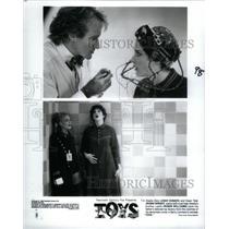 1993 Press Photo Toys Joan Cusack Wright Robin Williams - RRX31749