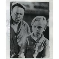 """1931 Press Photo Jackie Cooper, Child Star, in a Scene from """"The Champ"""""""
