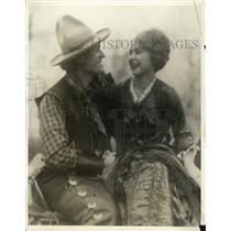 1930 Press Photo Jessica Hill and Charles Leatherbee Rehearsing for Chisom Trail