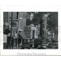 1990 Press Photo Main Street in Deadwood, South Dakota. - hcx05100