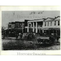 1875 Press Photo Muddy streets of old downtown Huntsville, Texas - hcx06194