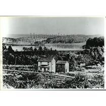 1889 Press Photo South Fork Dam Before the Johnstown, Pennsylvania Flood.