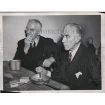 1945 Press Photo Hjalmar Schacht, Franz von Papen, during Nazi Nuremberg trials