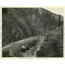 1938 Press Photo View of camp at the base of the Twin Springs Dam - ney30689