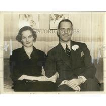 1935 Press Photo Doris Duke and Husband James H. R. Cromwell - nox14342