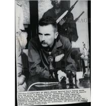 1967 Press Photo French Marxist Regis Debray speaks to press in Bolivia