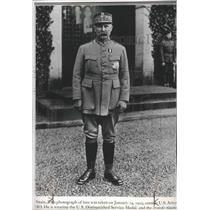 1919 Press Photo Henri Petain, Military hero of France at U.S. Headquarters