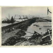 1932 Press Photo The dam which was built to join Holland with Friesland