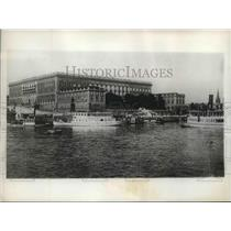 1929 Press Photo The Royal Palace of King Gustav in Stockholm, Sweden