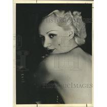 1937 Press Photo Radio Singer Edith Dahl - nox14564
