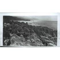1979 Press Photo Pancake Rocks on view at Punakaiki, New Zealand, South Island