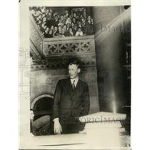 1929 Press Photo Col Charles Lindbergh addresses NY State Legislature