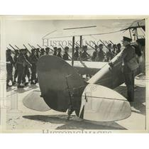 1940 Press Photo Royal Engineers Review on French Air Field - ney30405