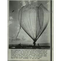 1966 Press Photo Largest Balloon Inflated at Holloman, New Mexico Air Force Base