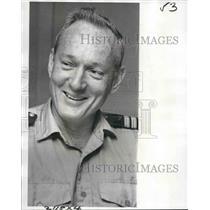 1975 Press Photo Captain James L. Cox, of Delta Steamship Co. at grade school.