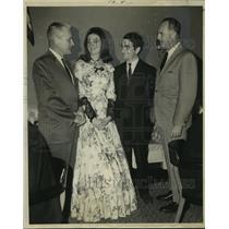 1969 Press Photo Delta Airlines-Pan-American World Airways Flight Ceremony