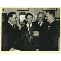 Press Photo Pilot Douglas Corrigan with New Orleans Mayor Robert S. Maestri