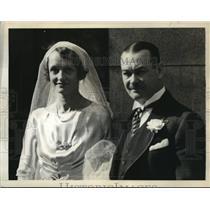 1939 Press Photo Mr. & Mrs. Griffith Bailey Coale, 1st passengers on flight.