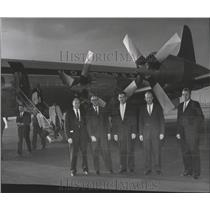 1963 Press Photo Federal Aviation Agency Officials Represent Air Safety Service