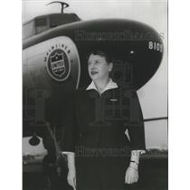 1965 Press Photo Mary O'Connor flew 7 million miles for United Air Lines.