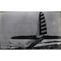 1941 Press Photo The tail of the new Douglas B-19 bomber plane at Clover Field