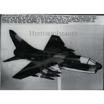 1966 Press Photo The A-7D Corsair II, light attack bomber built in Dallas, Texas
