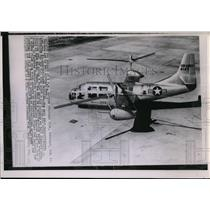 1955 Press Photo The new Bell XV-3 Convertiplane unveiled at Bell Aircraft Corp.