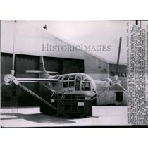 1955 Press Photo The Bell XV-3 convertiplane for inspection in Fort Worth, Texas
