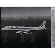 1960 Press Photo View of DC-8 type of jet transport - spw10313