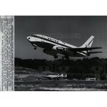 1967 Press Photo View of the 737 short-range Boeing Jetliner - spw10314