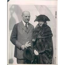 1922 Press Photo Former US Ambassador to France Hugh Campbell Wallace