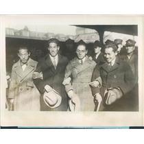 1927 Press Photo Japan Aviators U Suwa, Y Goto, N Kaiyeda, T Fujimoto