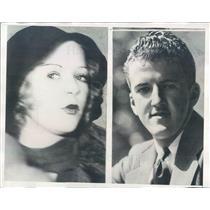 1933 Press Photo CA Actress Betty M'Mahon & LA Broker Franklin Stevens