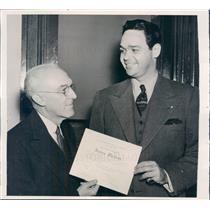 1940 Press Photo Philadelphia PA Pop, Opera Singer James Melton - ner22211