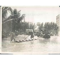 1926 Press Photo Palm Beach FL Flooded Bradley Place - ner38863
