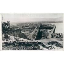 1923 Press Photo Bhatghan India Lloyd Dam Nearing Completion - ner40521