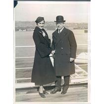 1925 Press Photo NYC Walter Edge US Ambassador to France - ner53905