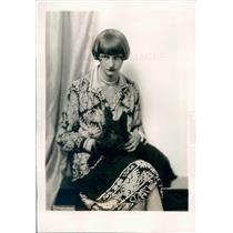 1928 Press Photo Paris France Mrs William Thomas Wife of Lt WD Thomas