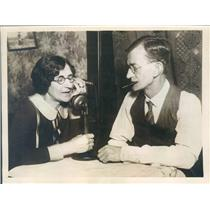 1926 Press Photo Chicago IL William & Mrs Safford Telephone England - ner56797