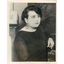 1927 Press Photo Paris France Mme Marthe Feral Wife of Poet Mallet - ner57945
