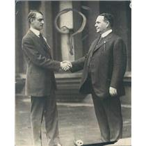 1916 Press Photo Chicago IL Woodland Bards Pres Joe Farrell & James Gunn
