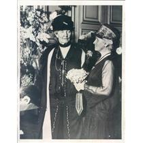 1928 Press Photo Paris France Mme Jules Jusserand, Mrs W Van Dyne - rkf13461